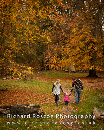Tim, Angela and Ellie – Autumn Portraits