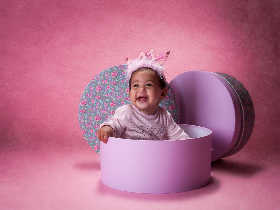 8 month baby portrait